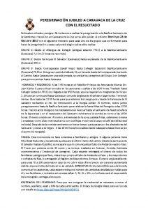 thumbnail of PEREGRINACION JUBILEO A CARAVACA DE LA CRUZ CON EL RESUCITADO